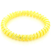 Резинка для волос STARLOOK спираль силиконовая c блестками 5 см желтая