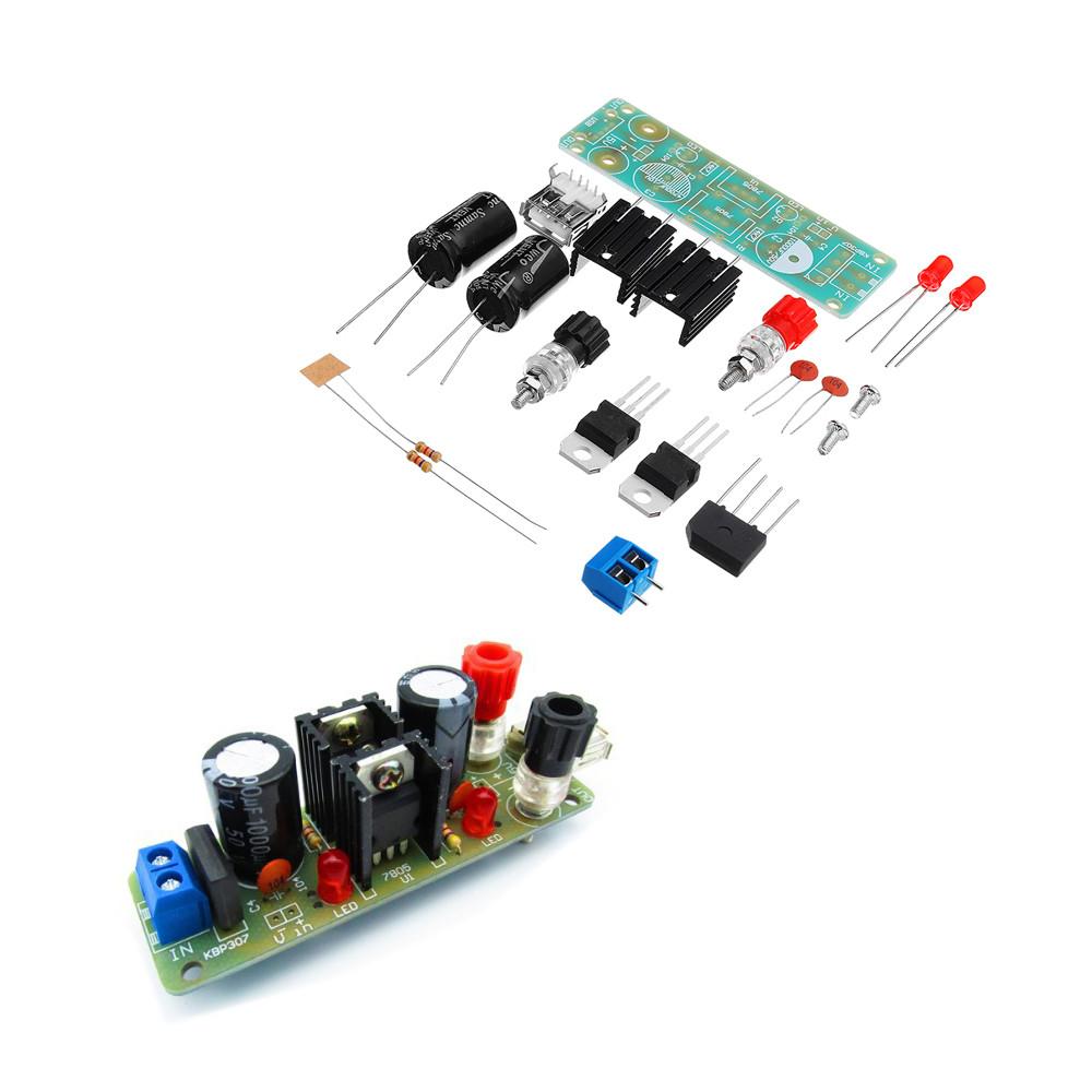 3шт DIY Двойной LM7805 Диффузор Модуль регулятора Набор 5V 3A Солнечная Модуль генератора энергии - 1TopShop