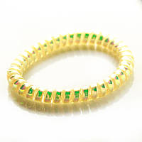 Резинка для волос STARLOOK спираль силиконовая голограмма 5 см желтая