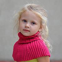 Шарф-горлышко Капелька. р.47-56. Малина, молоко, бежев, т.коричн, черный, сред.серый, серо-голуб