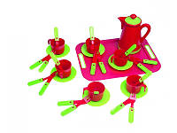 Набор игрушечной посуды с подносом Kinderway 04-422, 32 предмета