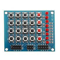5шт 8 LED 4x4 кнопочный переключатель 16 независимых матриц Клавиатура для AVR ARM STM32 - 1TopShop, фото 2