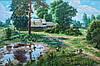 Картина Сельский пейзаж для дизайна гостинной