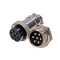 5 шт. GX20 7 Pin 20 мм Мужской и Женский Провод Панель Круговой Коннектор Авиация Разъем Штекер-1TopShop