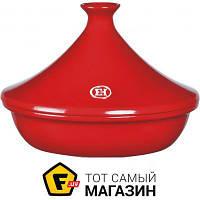 Таджин 2 для газовых плит, для электроплит, для галогеновых/стеклокерамических плит, для микроволновок, для духовок Emile Henry Flame 2л (345626)