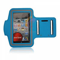 Армбенд, спортивный чехол Iphone 6 plus, голубой