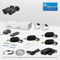 Комплект видеонаблюдения установи сам Страж Смарт 4 4М+ УЛ 960К 2 КУ 700К ИК 2