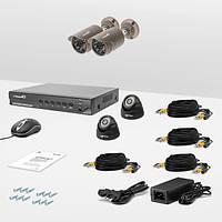 Комплект проводного видеонаблюдения Страж AHD Эконом