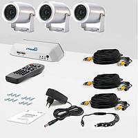 Комплект видеонаблюдения на 3 камеры установи сам 3П (УЛ-420К-3)