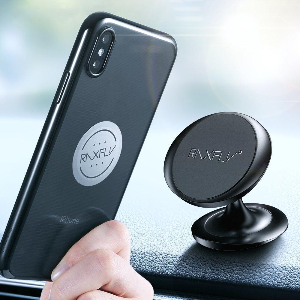 RAXFLYСильноемагнитноевращениена360 градусов Авто Держатель для панели приборов для iPhone Сяоми смартфон - 1TopShop