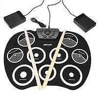 Портативная электронная Roll Up Drum Set Набор 9 Силиконовый коврик для начинающих - 1TopShop