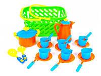 Набор игрушечной посуды в корзинке Kinderway 04-437, 20 предметов