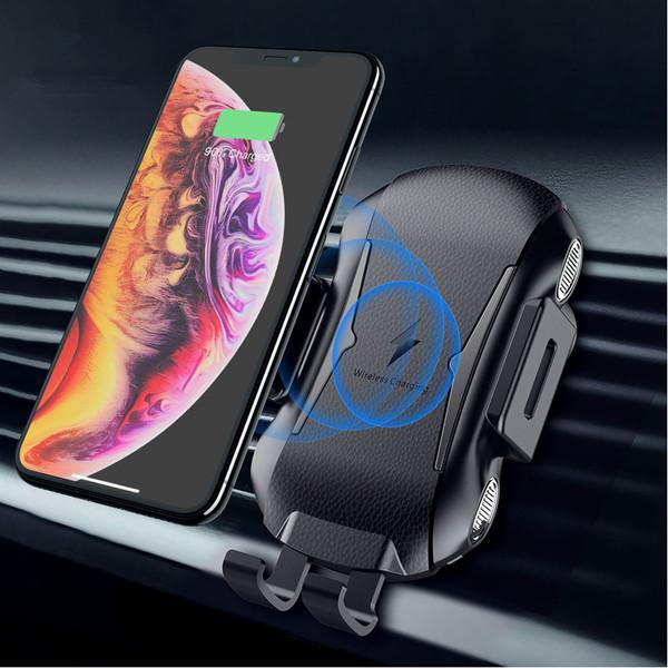 FLOVEME 10W Автоматическое зажимание Qi Беспроводное зарядное устройство Авто Для iPhone X Xs Max S9 Note 9 Xiaomi Mix 3 - 1TopShop