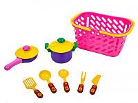 Набор игрушечной посуды в корзинке Kinderway 04-435, 7 предметов