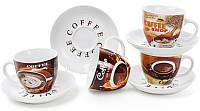 Кофейный набор Coffee shop&bakery 4 чашки 225 мл с блюдцами (psg_BD-334-420)