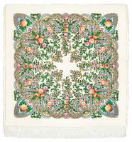 """Платок шерстяной с шелковой бахромой """"Весенний ручеек"""", 125х125 см, фото 1"""