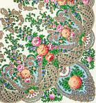 """Платок шерстяной с шелковой бахромой """"Весенний ручеек"""", 125х125 см, фото 2"""