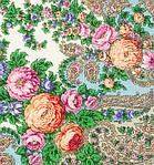"""Платок шерстяной с шелковой бахромой """"Весенний ручеек"""", 125х125 см, фото 3"""