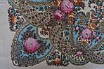 """Платок шерстяной с шелковой бахромой """"Весенний ручеек"""", 125х125 см, фото 4"""