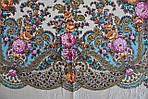 """Платок шерстяной с шелковой бахромой """"Весенний ручеек"""", 125х125 см, фото 5"""