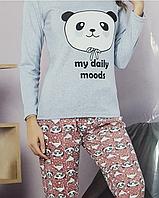 Женская   хлопковая  пижама для дома и сна  с ярким принтом  Кофта и штаны Турецкого качества .Moddalife