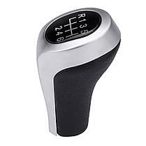 5 6 Ручка переключения скоростей ручной работы из искусственной кожи Chrome для BMW E90 E91 E92 X1 X3 X5 - 1TopShop, фото 2