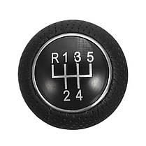5 Speed Universal Aluminum Manual Авто Ручка переключения передач рычага переключения передач Черная кожа - 1TopShop, фото 2