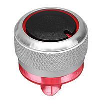 Черный серебристый 3шт Алюминиевый сплав Нагреватель Ручки Кнопки Набор для PEUGEOT 206 207 C2 - 1TopShop, фото 2