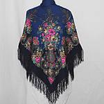 """Платок шерстяной с шелковой бахромой """"Рококо"""", 125х125 см, фото 4"""