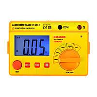 ALL SUN EM480B Тестер аудиоимпеданса Портативная изоляция Диапазоны испытаний CATIII 20/200/2000 Измеритель сопротивления Таймер 1 кГц Функция