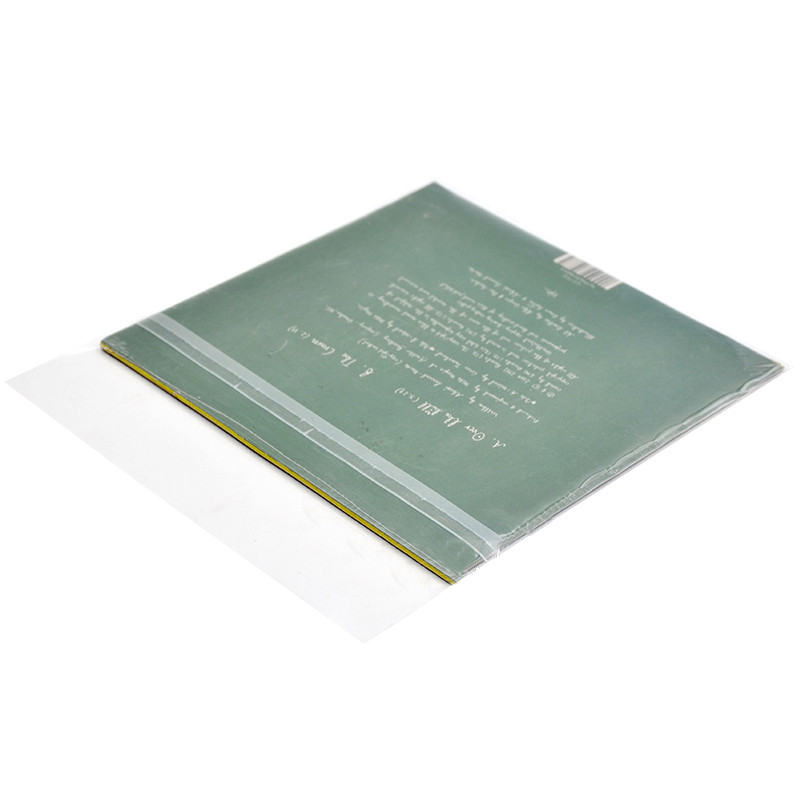 50шт 7-дюймовый черный диск защитный Сумки Self-Adhesive CD Storage Сумка Прозрачное утолщение 10 проводов - 1TopShop