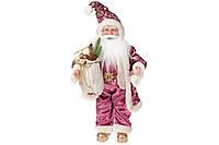 Новогодняя игрушка Санта 46см, цвет - розовый, BonaDi NY14-481