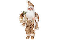 Новогодняя игрушка Санта 46см, цвет - золото, BonaDi NY14-480