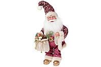 Новогодняя музыкальная фигура Санта 41см, цвет - розовый, BonaDi NY14-475