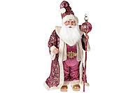 Новогодняя игрушка Санта 71см, цвет - розовый, BonaDi NY14-489
