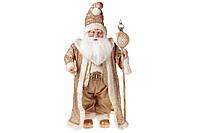 Новогодняя игрушка Санта 71см, цвет - золото, BonaDi NY14-488