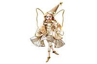 Новогодняя декоративная фигура Фея 4см, цвет - шампань, BonaDi NY14-418