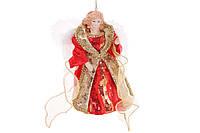 Верхушка на елку Ангел 17.5см, цвет - красный с золотом, BonaDi NY14-411
