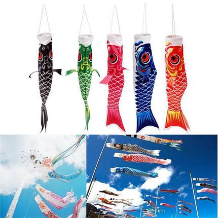40 см японский стиль кои нобори карп флаг ветер носок рыба коинобори Водонепроницаемы кайт ремесла талисмана висит - 1TopShop, фото 2