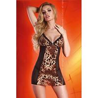 Дерзкий пеньюар с леопардовой вставкой и прозрачной спиной Sepida LiviaCorsetti Ливия Корсетти