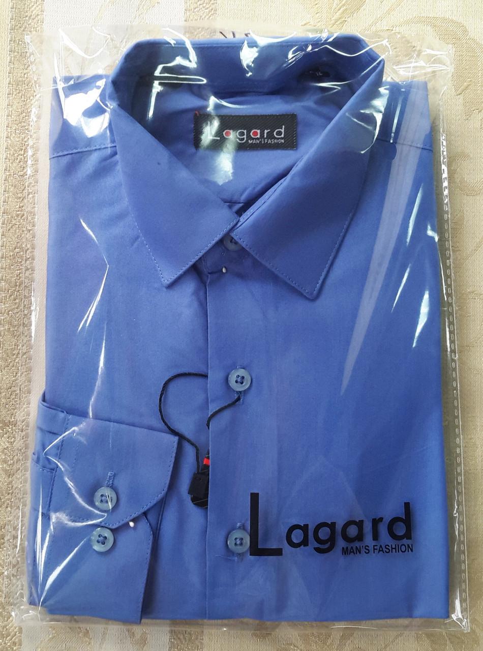 Рубашка для мальчика цветная синяя.