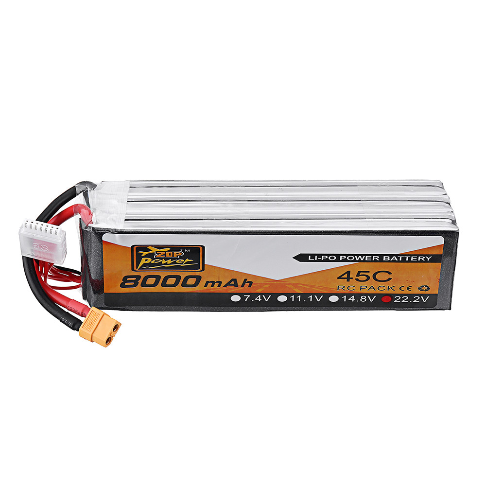 ZOP Power 22.2V 8000mAh 45C 6S Lipo Батарея XT90 Разъем для FPV Racing Дрон - 1TopShop