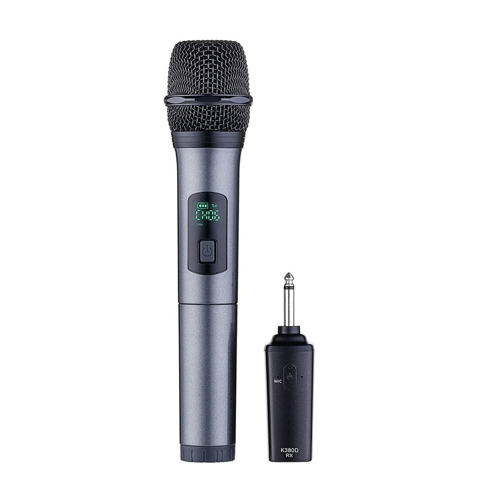 K380D 6.5 мм 10-канальная УВЧ цифровая беспроводная система Микрофон с One Микрофон - 1TopShop