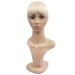 Накладная челка из натуральных волос. Цвет #60 Холодный блонд