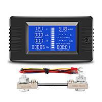 PZEM-015 Батарея Тестер DC Напряжение Ток Мощность Емкость Внутреннее и внешнее сопротивление Измеритель остаточного электричества с шунтом 10 -