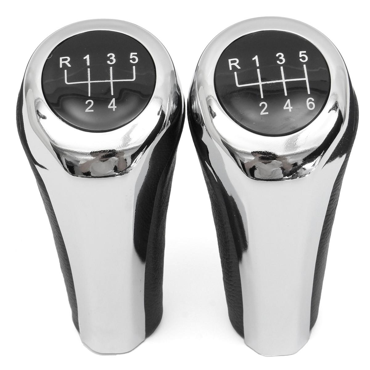 5 6 Ручка переключения скоростей ручной работы хромированного алюминия для BMW E82 E90 E91 E60 E63 E83 E84 E53 - 1TopShop