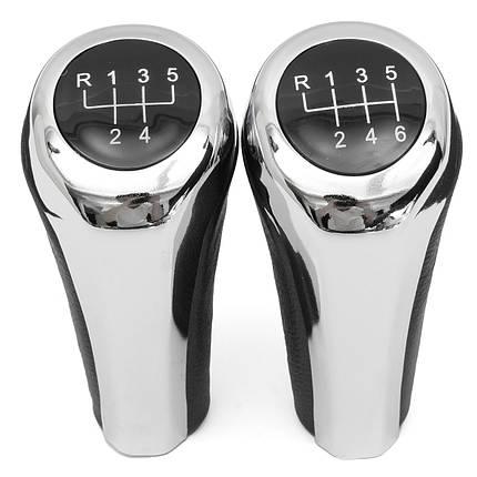 5 6 Ручка переключения скоростей ручной работы хромированного алюминия для BMW E82 E90 E91 E60 E63 E83 E84 E53 - 1TopShop, фото 2