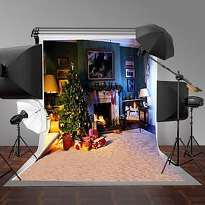5x7FT Виниловая рождественская елка Камин Спальня Фотография Фон Фон Студия Prop - 1TopShop, фото 2