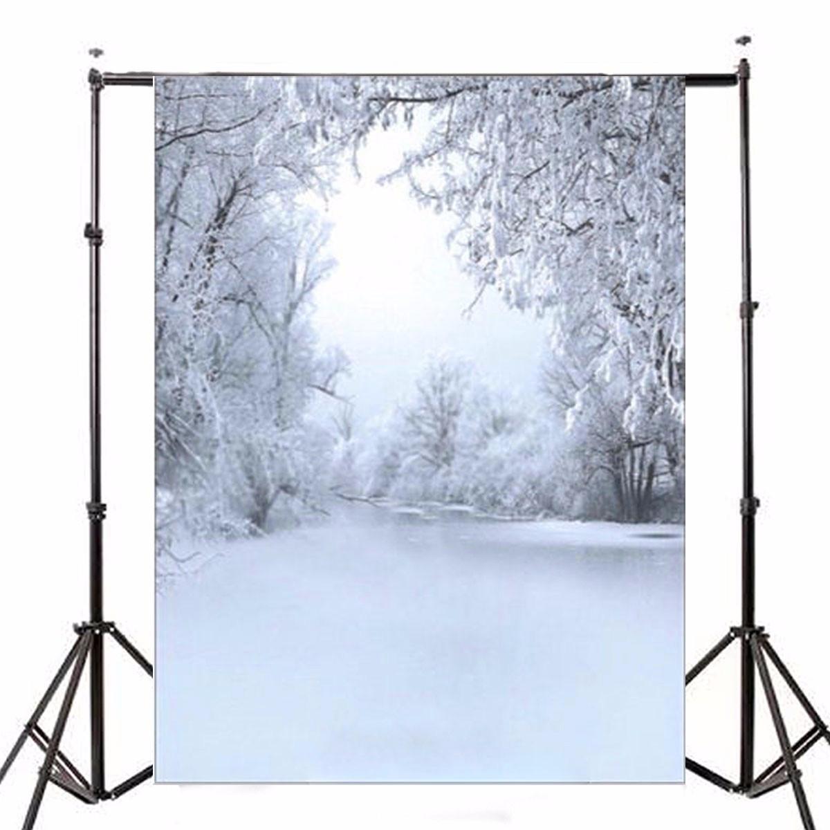 5x7FT Виниловый зимний лес Фоновая фотография Фон Студия Prop - 1TopShop