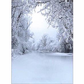 5x7FT Виниловый зимний лес Фоновая фотография Фон Студия Prop - 1TopShop, фото 2